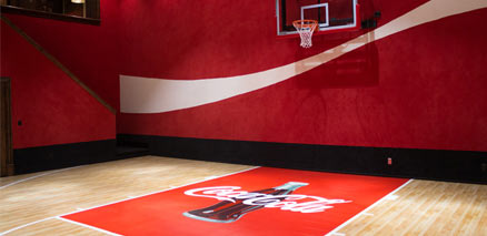 custom indoor basketball court builder