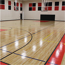 Custom Gym Floor by Sport Court