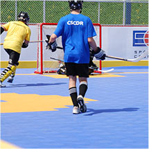 Floor Hockey  - Custom Gym Flooring by Sport Court
