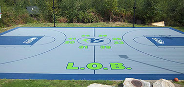 custom outdoor basketball builder
