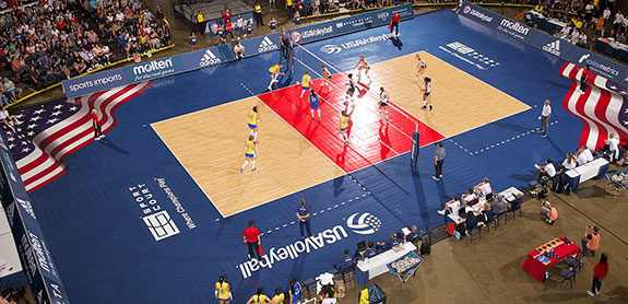 custom commercial volleyball court