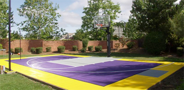 Backyard Basketball Court Construction Flooring