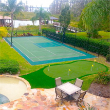 Home Basketball Court & Backyard Putting Green by Sport Court West in Utah