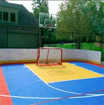 Multi-Sport Backyard Basketball Court by Sport Court
