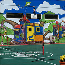 Custom Logo Sport Court Tiles Outdoor