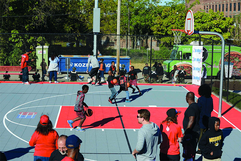 NRPA and Sport Court Trojan Park Basketball Court Dedication