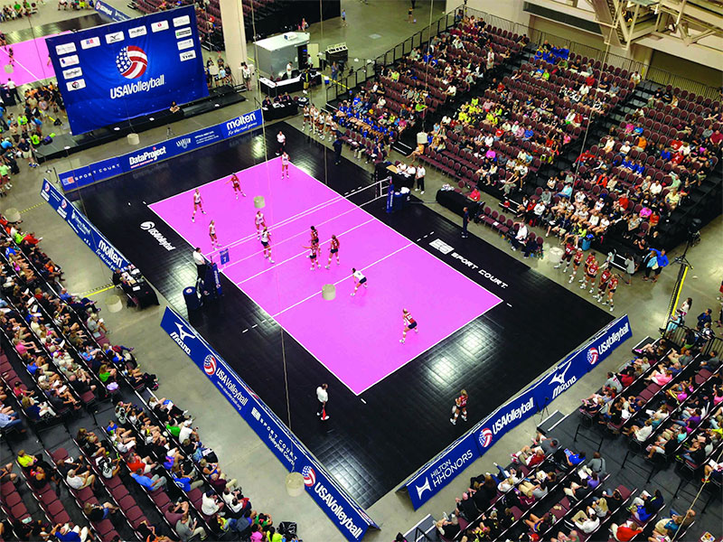 USA Volleyball Girls Junior National Championship Sport Court Volleyball Court
