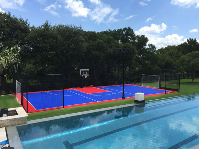 Customized Backyard Sport Court