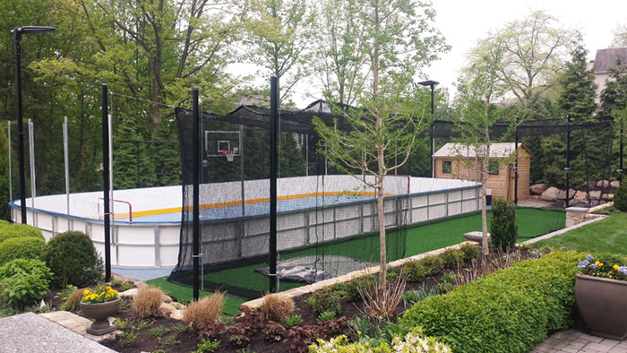 Multiple Sport Residential Backyard