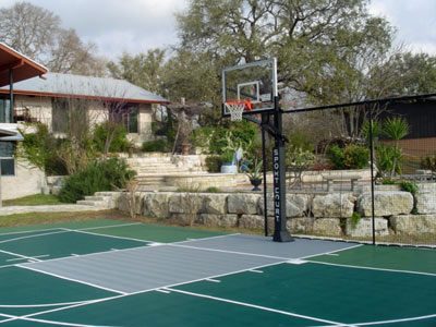 Backyard Basketball Court Installers