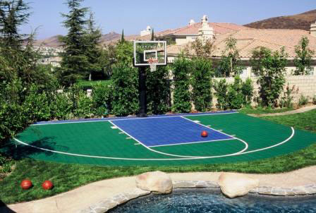 Family Basketball Court For The Home