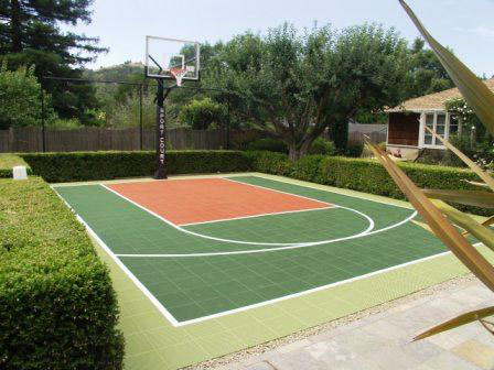 Backyard Basketball Court Contractors