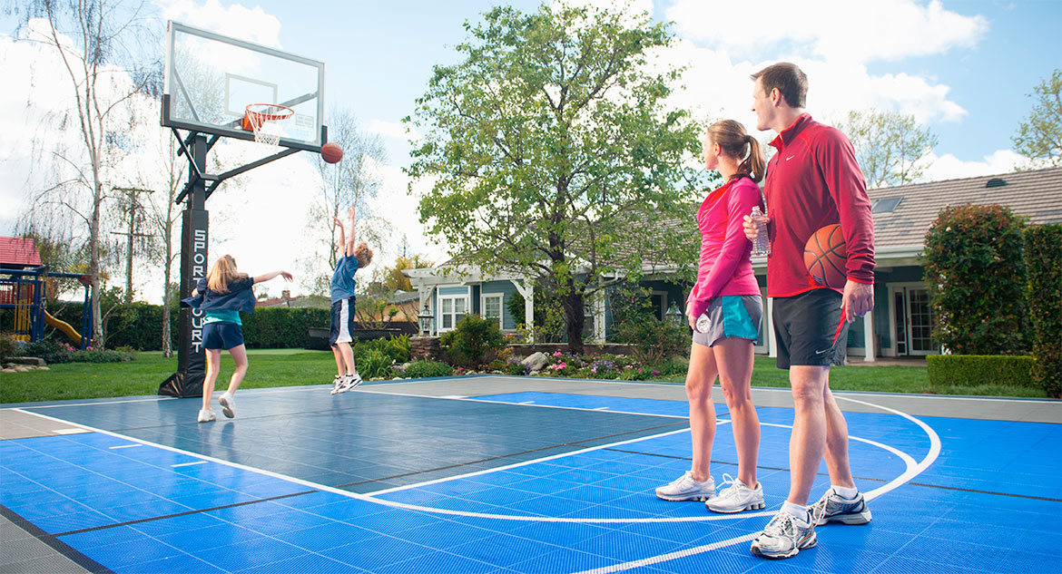 Backyard Basketball Court Flooring - Sport Court