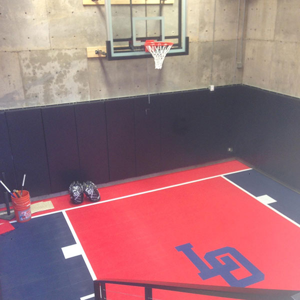 Sport Court that is volleyball and basketball