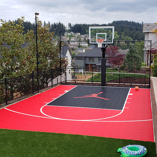 Outdoor Custom Sport Court in Oregon