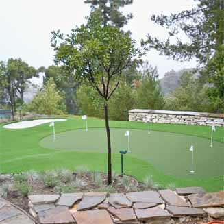 Synthetic Backyard Putting Greens