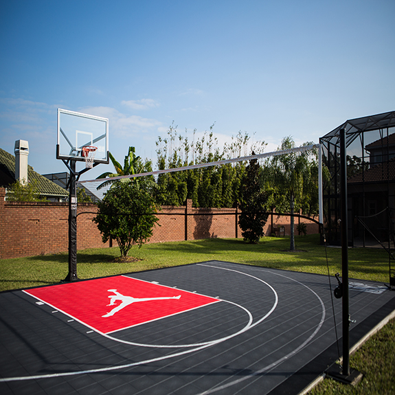 Custom Design Home Basketball Court Designed with Court Builder™