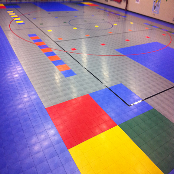 Sport Court Athletic Tiles using Defense, perfect for any activity!