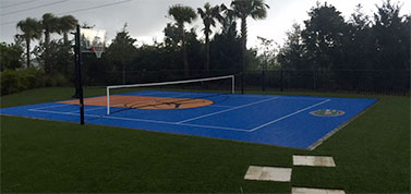 Sport Court with brand on it
