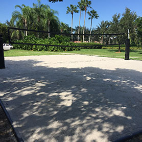 Professional Beach Volleyball Court Construction by Sport Court South Florida